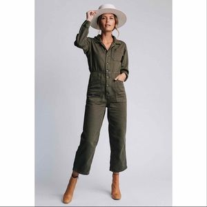 Free People Gia Utility Coverall - Green, XS